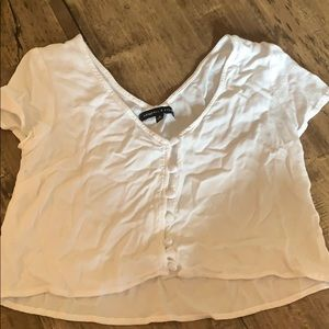 Kendall Kylie crop top with buttons